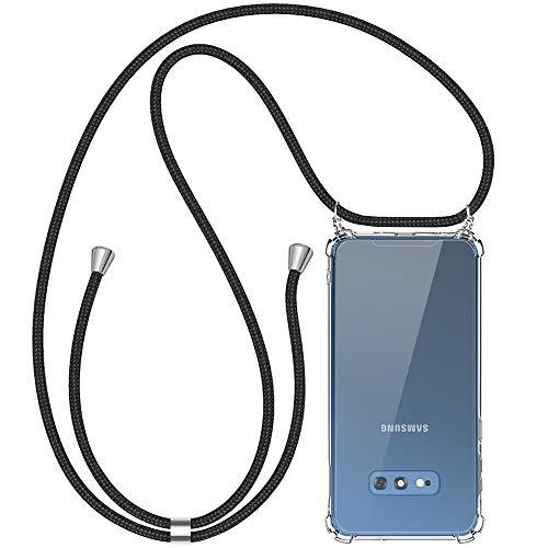 opamoo Handykette Samsung Galaxy S10E, Samsung S10E Handyhülle mit Kordel Necklace Schnur Stoßfest Fallschutz Silikon Schutzhülle mit Band Anti-Scratch Umhängen Necklace Hülle für Samsung Galaxy S10E