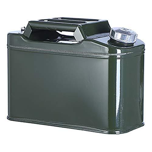 BidóN para Gasolina, Tres Manillar De Combustible De Contenedores, Formado Cubo De Gasolina Can con Espesado Multifuncional Cubierta De Aluminio,Verde,10L