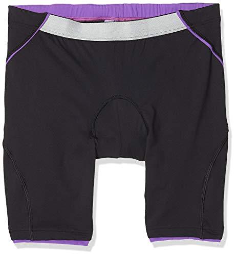 rh+ Fusion W Short, Apparel Bike Bibshort Mujer, Black-Purple, XXL