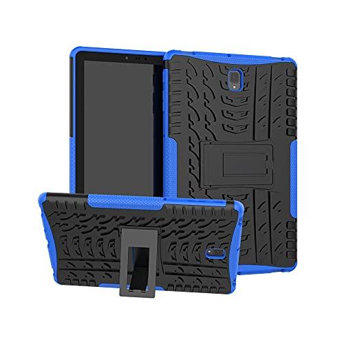 Tablets Duras Cubierta de Tableta para Samsung Galaxy Tab S4 10.5 Pulgadas T830 / T835 Textura de neumáticos TPU + PC Funda Protectora con Soporte de Mango Plegable Tablets Fundas
