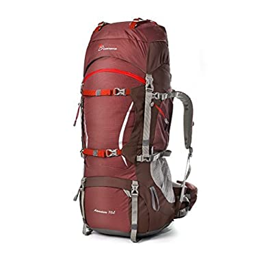 Mountaintop Outdoor Waterproof Hiking mountaineering Internal Frame Backpack 5805 Maroon