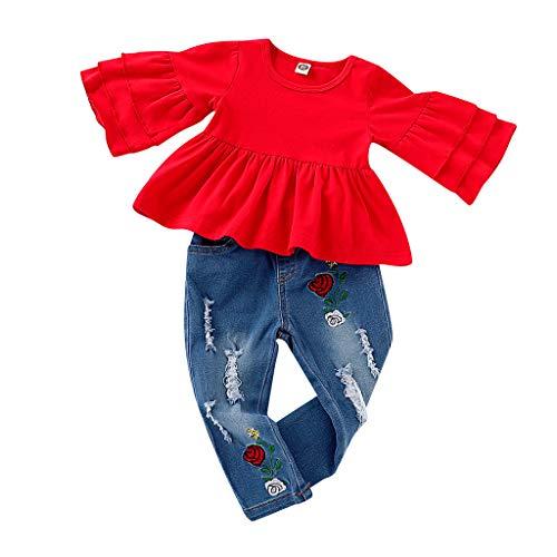 Baby Kleidung Jungen Herbst 0-6 Monate Set, Weant Neugeborenes Baby Mädchen Warm Hoodie T-Shirt Top + Hose Outfits Set Kleidung Set Strickjacken Sweatshirts Kleider für Mädchen