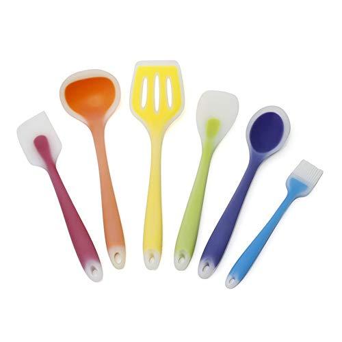 JIZHU Silicone Nylon Kitchen Utensils Set Durable Non-stick and High Temp Kitchen Tools for Nonstick Cookware