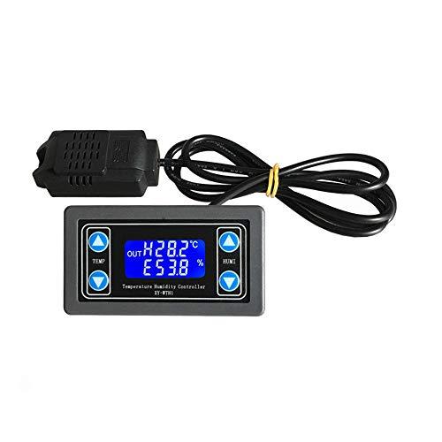 YEZIB Módulo de Sensor electrónico Termostato Humedad de la Temperatura del Controlador LCD Pantalla Sensor Módulo de relé DC 6V-30V LED Digital Sensor