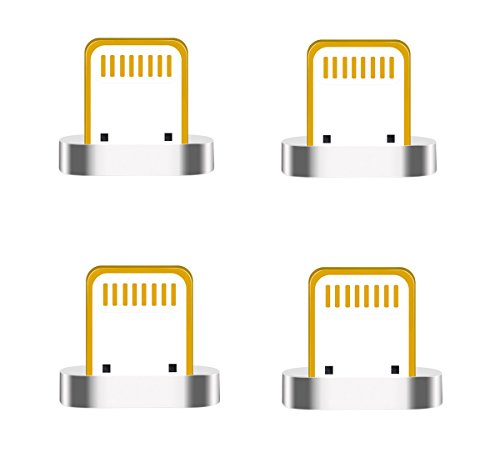 Zrse(ザスイ)【4個セット】第五世代 マグネット式 Lighting 磁石 親端子 防塵機能 データ通信 iphone各種ス...