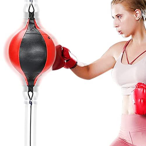 Peras de Boxeo de Velocidad - JanTeelGO Bolsa de Boxeo Colgante con Inflador Conjunto de Entrenamiento - Punching Ball con Doble para Físico MMA Muay Thai Entrenamiento Deportivo