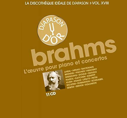 La discothèque idéale de Diapason, vol. 18 / Brahms : L'oeuvre pour piano et concertos.
