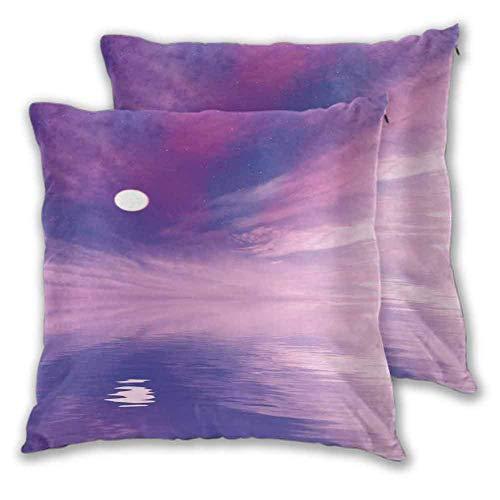 N\A Almohada para Dormir Espectáculo Surrealista con estrellitas y Luna Llena reflejándose en la decoración del Coche de mar