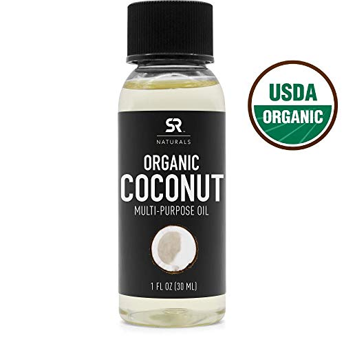 Organic Fractionated Coconut Oil by SR Naturals ~ 100% Pure Multi-Purpose Oil for Skin, Hair and DIY...