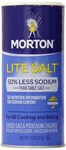Morton Salt Lite Salt, Less Sodium, 11 oz (Pack of 1)