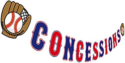 Baseball Concessions Banner, Birthday Party Concessions Sign, Baby Shower Table Decorations