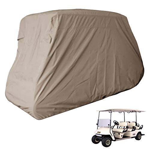 Deluxe 6 Seater Golf Cart Cover fits E Z GO, Club Car, Yamaha Model Taupe
