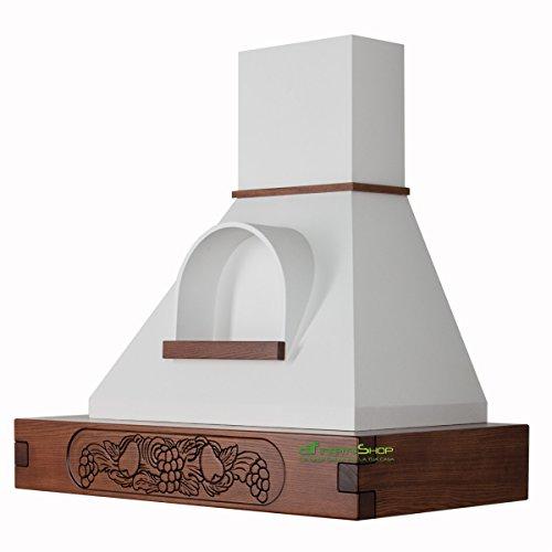 Cappa cucina rustica legno mod.FRUTTA con nicchia 90 cm colore FS
