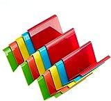 Rainbow Plastic Taco Holder Stand Set - Multicolor Rainbow Set Of 5 Plastic Taco Holders - Taco Serving Platter