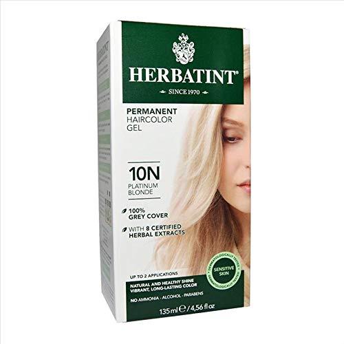 Herbatint 10N Platinum Blonde Permanent Herbal Hair Colour Gel 150 ml