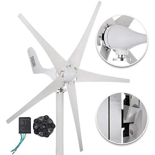 Las turbinas de viento generador de 500W DC 12V / 24V aerogeneradores 5 Hoja de baja velocidad del viento partir rodamientos NSK Garden Street Lights,24v