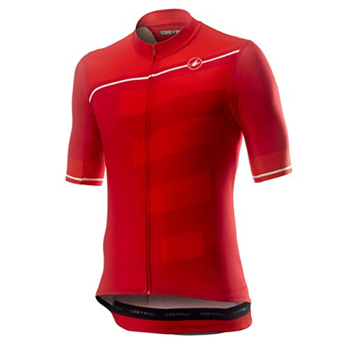 castelli Trofeo Camiseta, Hombre, Red/Fiery Red, X-Large