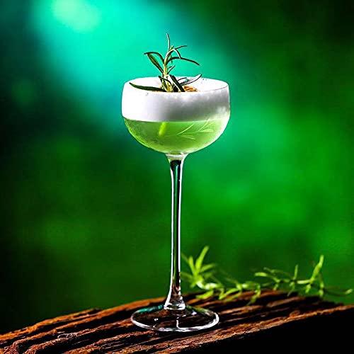 Vaso de cóctel creativo – Vaso de huracán para beber manhattans, Martini y vino, moderno y elegante diseño para fiestas (150 ml x 2 piezas)