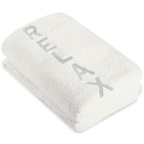 CelinaTex New-Well Saunatuch 80 x 200 cm weiß Baumwolle Frottee