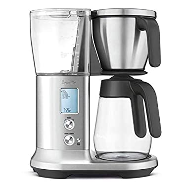 Breville BDC400BSS1BUS1 Precision Brewer Glass, 12.4  x 6.7  x 15.7 , Brushed Stainless Steel