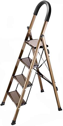 Conveniente para los varios escenarios Cuatro Pasos metal Escalera, Usar-resistencia anticorrosión Escalera ropa tienda escalera de tijera portátil práctico supermercado / Escalera del hogar Buenos ma: Amazon.es: Hogar