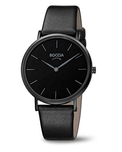 Boccia Damen Analog Quarz Uhr mit Leder Armband 3273-07
