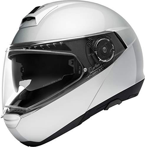 Schuberth 4549244360 C4 Pro - Casco per Moto Unisex - Adulto, Argento (Glossy Silver), 59 (L), 1 Pezzo