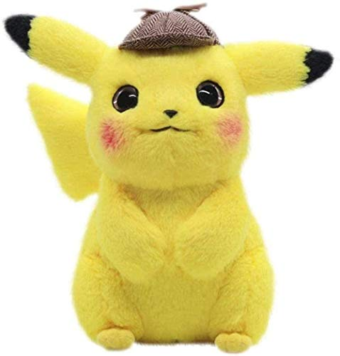 N-R Stuffed Animal Detective Pikachu Plush Toy Kawaii Exquisite Soft Claw Machine Doll Product Popular Movie Protagonist Stuffed Little Mouse 28cm