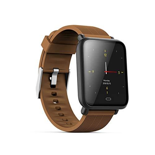 XXY SmartWatch Life Impermeable Sports Watch Sueño Presión Arterial Monitor De Ritmo Cardíaco Monitor De Reloj Inteligente Hombres Mujeres (Color : Coffee)