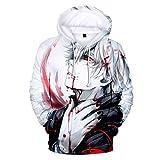 YOLEOLY Anime Tokyo Ghoul Cosplay Kaneki Ken Hoodie Jacket Costume Sweater Fleeces