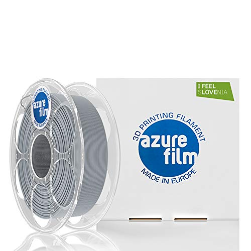 AZUREFILM Strongman PLA 3D Professional Printer Filament 1.75 mm - Must Have Printing Accessories for Bringing Your Ideas to Life - High Dimensional Accuracy +/- 0.02 mm, 1kg Spool, Grey - No Bubbles