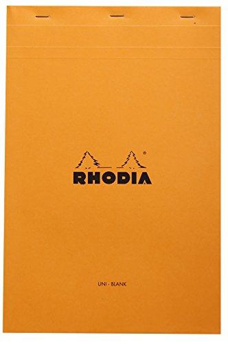 Rhodia No.19 A4 - Papel llano (80 hojas, 80 g, 21 x 31,8 cm), color naranja
