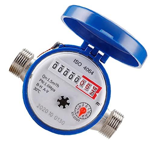 Kaltwasser-Durchflussmesser mit Beschlägen 15mm 1/2 Zoll Umdrehungszählern für die Nutzung zu Hause Garten Zubehör guter Qualität Werkzeug