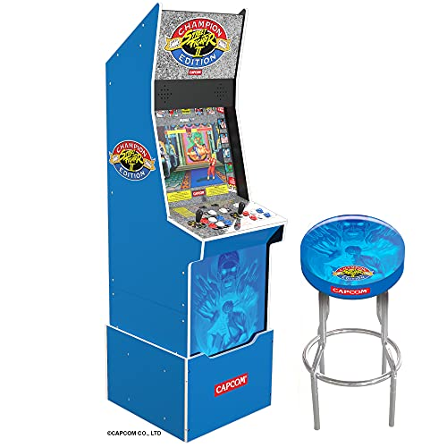 Arcade1Up Street Fighter II Champion Edition Arcade Machine (With Riser and Stool)
