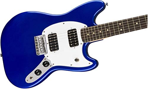 Squier by Fender Bullet Mustang HH Short Scale Beginner Electric Guitar - Blue