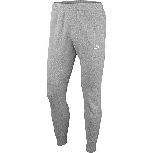 Nike Herren M NSW Club JGGR FT Sport Trousers, dk Grey Heather/Matte Silver/(White), S