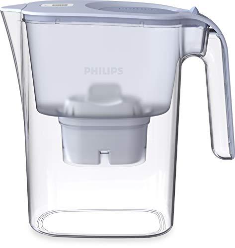 Philips AWP2936BLT/10 Micro X-Clean Wasserfilterkaraffe – Blau, 3 litres, Digitaler Timer, Brita kompatibel