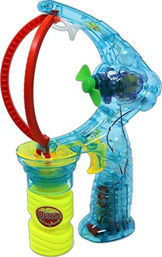 hibuy Seifenblasenpistole XXL-Plus - Macht XXL Seifenblasen - inkl. Seifenblasenflüssigkeit und Batterien