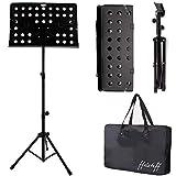 ffalstaff leggio musicale in lega di alluminio, pieghevole, regolabile e con borsa per trasporto