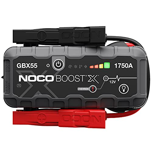 NOCO Boost X GBX55 1750A 12V UltraSafe Portable Lithium Jump Starter, Car Battery Booster Pack, USB-C Powerbank Charger, And Jumper Cables For Up To 7.5-Liter Gas And 5.0-Liter Diesel Engines