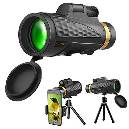Monocular Telescope, 18X62 High Power HD Monocular with Smartphone Holder & Tripod, Waterproof Monocular with Durable and Clear FMC BAK4 Prism for Bird Watching, Camping, Hiking -2020 Newest