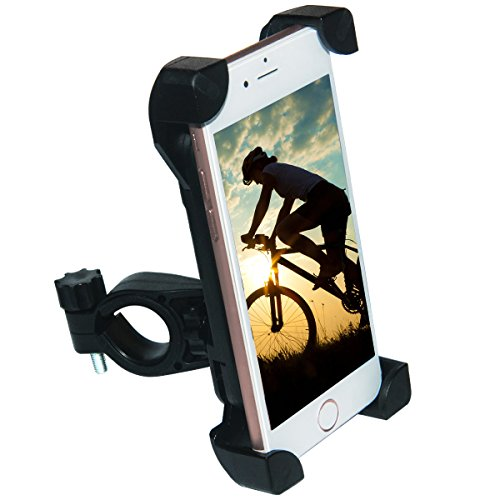 [Upgrade] Bike Phone Mount, Tryone Bike Mount Bike Holder & Motorcycle Phone Mount Holder for iPhone or Android Smartphones - Max 0.5 Inch Thickness for a Phone with a Case