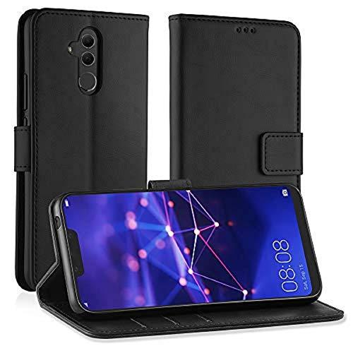 Simpeak Custodia Compatibile per Huawei Mate 20 Lite, Cover Compatibile per Huawei Mate 20 Lite in Pelle Portafoglio con Supporto Flip Caso, Nero