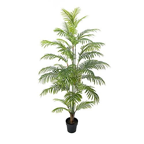 Pflanztöpfe Große, künstliche Pflanzen Palme Künstliche Pflanze Simulation Pflanze Topf Grünpflanzen Große Bonsai Indoor Wohnzimmer Dekoration, grüne Faux Pflanzen (Size : 1.2 Meters)