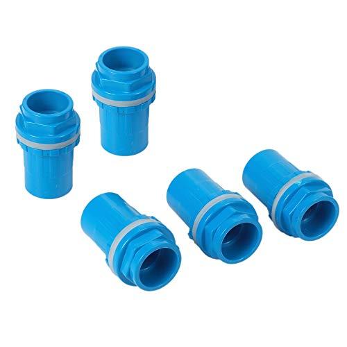 Runtodo 5 Piezas Conectores de Tubería de 32 Mm Espesar Juntas de Tubería de Drenaje de Tanque de Peces Piezas de Drenaje de Tubería de Suministro de Agua de Riego de JardíN, Azul