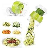 Coupe Légumes Spiralizer 4 en 1 Spaghetti de Légumes Spiralizer Legume, Manuel Coupeur de légumes Coupe Végétale Eplucheur pour Courgette Nouilles Spaghettis Tagliatelle Carotte Concombre