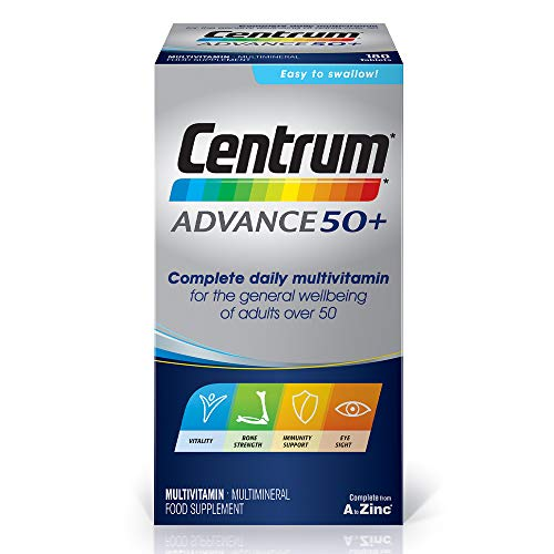 Centrum Advance 50 Plus Multivitamins and Minerals tablet, 180 tablets (6 months supply)