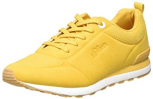 s.Oliver Damen 5-5-23606-24 Sneaker, Gelb (Yellow 600), 41 EU