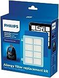 Philips FC8010/02 Original Ersatzfilterset (für PowerPro Compact & Active Bodenstaubsauger) blau/weiß