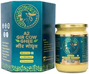 100 Organic Grass fed Ghee Butter from GirOrganic 16 Oz glass jar of Premium quality A2 Gir product image